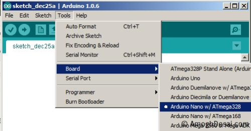 Arduino nano As ISP bootloader