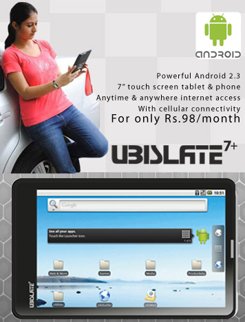 Datawind, the makers of Aakash tablet launch upgraded tablets Ubislate 7+ and 7c