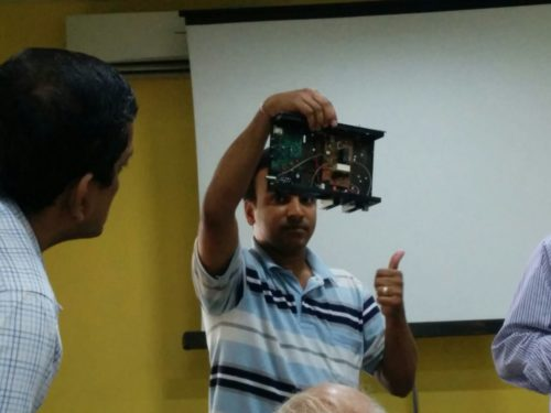 Me posing with the SDR VU2ASH made :D