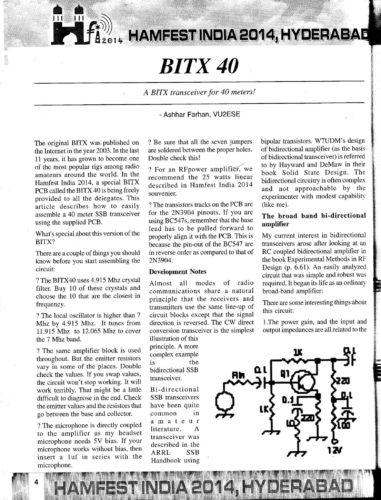Hamfest India 2014 Souvenir - BITX40 - Page 1