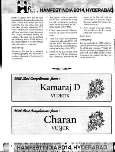 Hamfest India 2014 Souvenir - BITX40 - Page 5