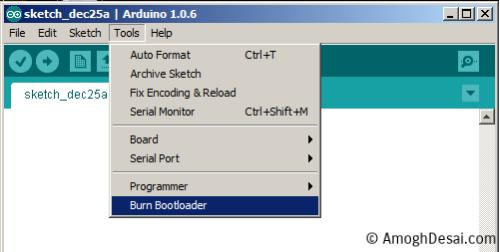 Burn BootLoader Atmega328 using Arduino Nano