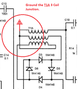 Ground the 3 coil Junction of T1A