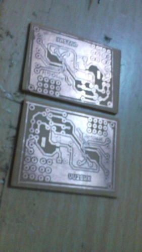 PCB Etched using Toner Transfer Method