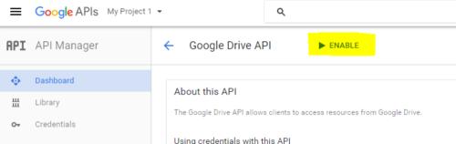 Google-drive-api-console