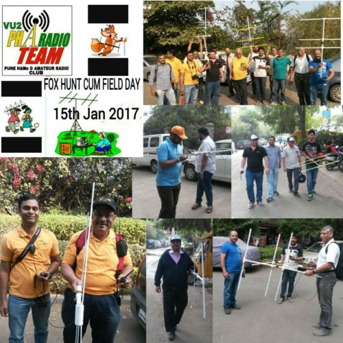 Pune Hams and Amateur Radio Club's Fox Hunt